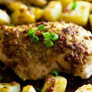 Sheet Pan Pesto Ranch Chicken and Potatoes.