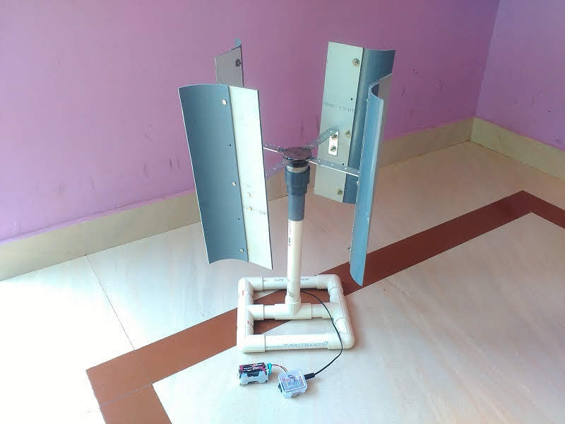 My First Make Vertical Axis Wind Turbine Video - New Physicist
