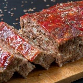 Keto Beef And Pork Meatloaf.
