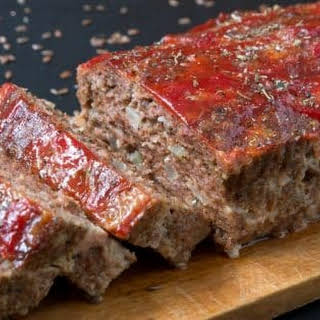 Keto Beef And Pork Meatloaf.