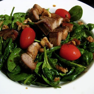 Roasted Pork Belly And Spinach Salad