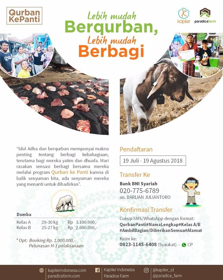 Cari Qurban Ke Panti Kapiler Indonesia