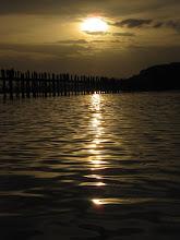Photo: Year 2 Day 55 -  Sunset on U Bein's Bridge and Taungthaman Lake