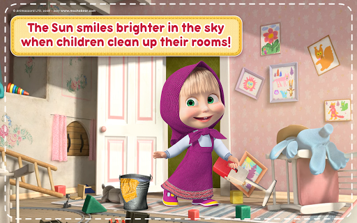 Masha and the Bear: House Cleaning Games for Girls  screenshots 19