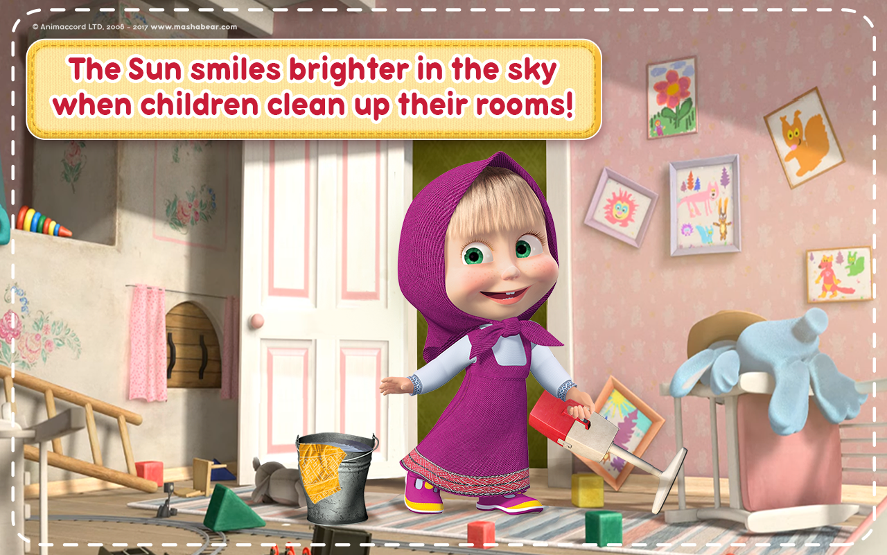 Masha and the Bear: House Cleaning Games for Girls- screenshot