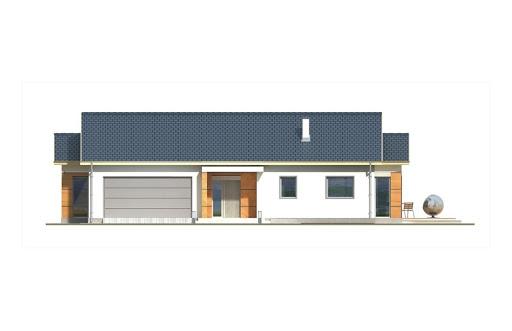Agatka wersja A dach 22 stopnie - Elewacja przednia