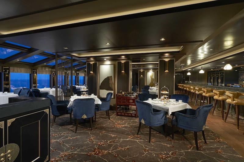 Enjoy the lush elegance of the Grand Tea Room on Norwegian Joy.
