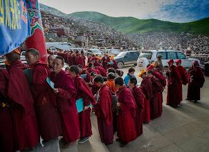 Photo: Nuns queuing up for a medical exam.