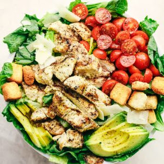 Grilled Chicken Caesar Avocado Salad Recipe