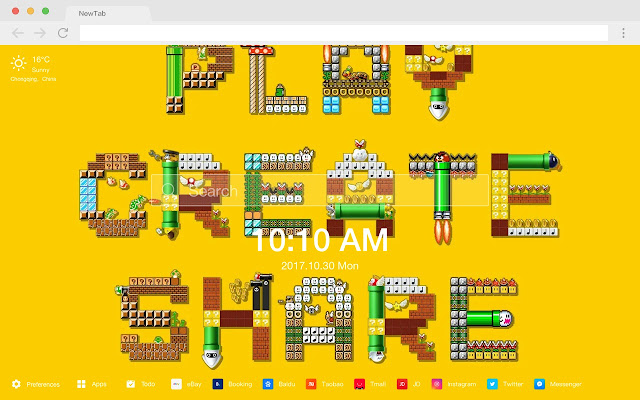 Super Mario Pop Game HD New Tabs Theme