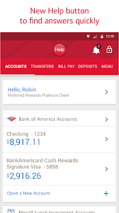 Bank of America Screenshot 1