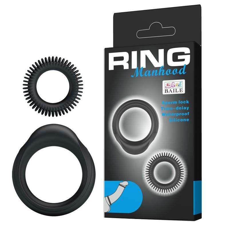 2 pack penisringar- silicone