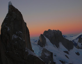 Photo: Evening view from a bivouac on Cerro Torre