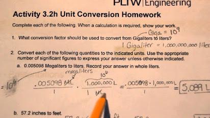 Activity 3 2h unit conversion homework answers key
