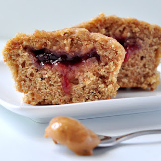 Peanut Butter & Jelly Whole Wheat Muffins