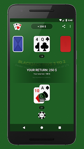 Blackjack - Free & Offline 1.4.0 Mod screenshots 2