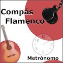 Flamenco rhythms. Metronome icon