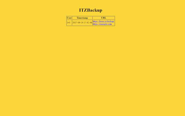 ITZ backup