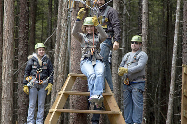 Grizzly Falls Ziplining Expedition features 11 ziplines, the longest measuring 750 feet .