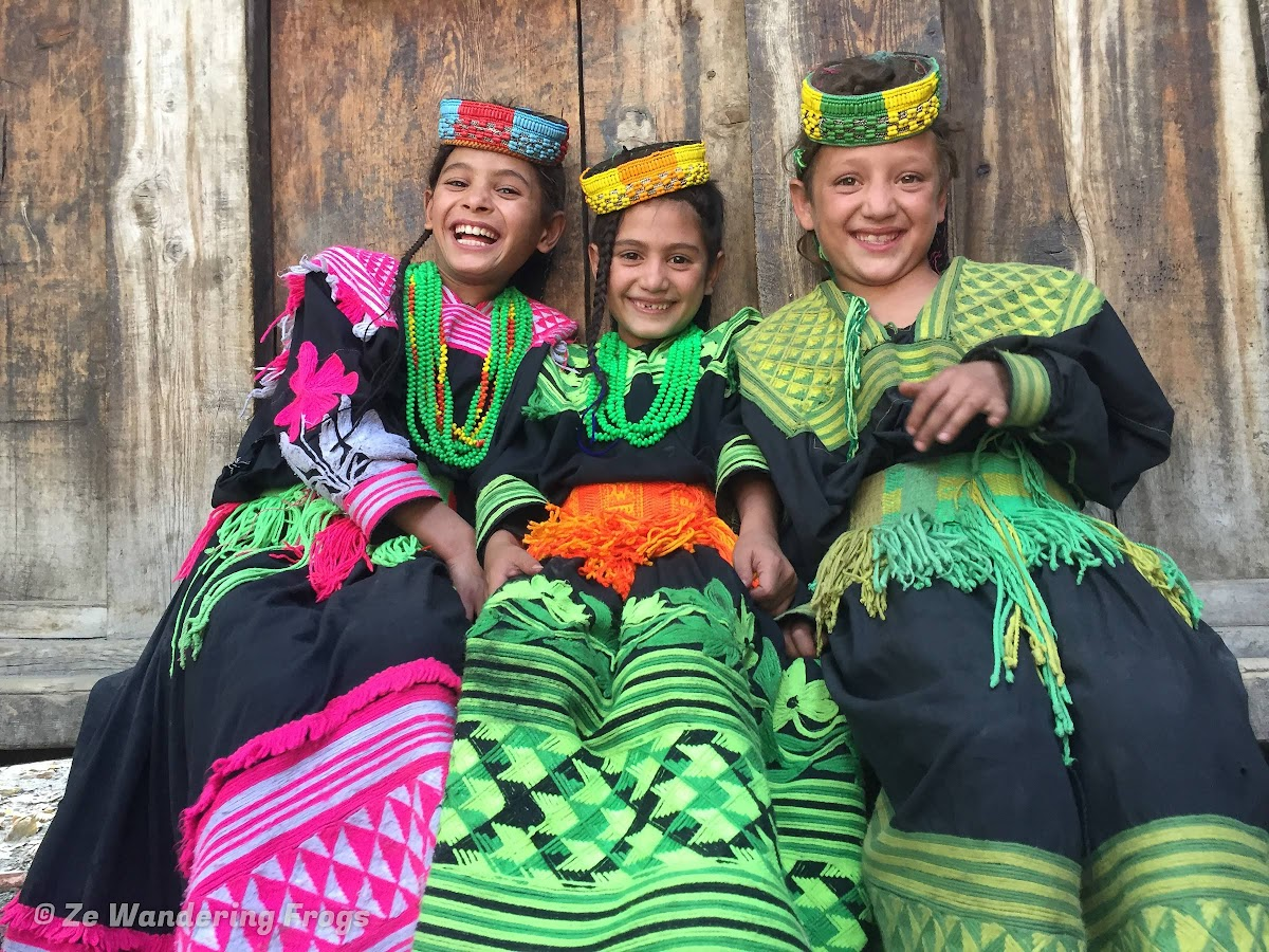 Pakistan Culture of the Kalash Valley Pakistan // Laughing time with little Kalash girls