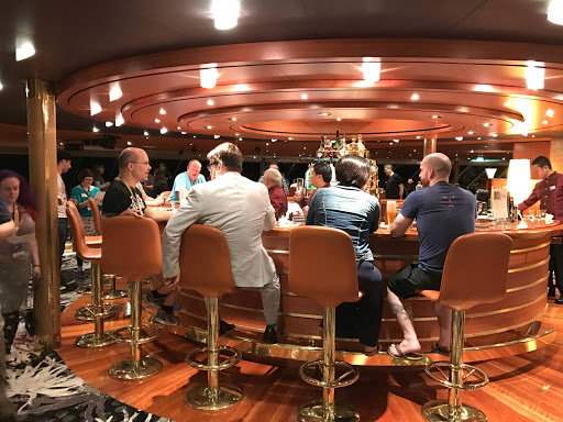 Crow's-Nest-bar-2.jpg - The Crow's Nest on the 10th deck of Westerdam was a popular mingling spot.