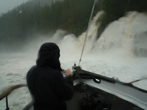 Photo: That's me, taking the video.  A good test of my Gore-Tex jacket!  Photo by Ben.