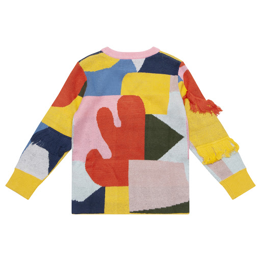 Thumbnail images of Stella McCartney Multi-Coloured Fringed Jumper