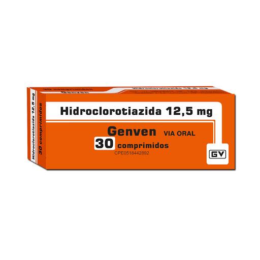 hidroclorotiazida 12,5mg 30comprimidos genven
