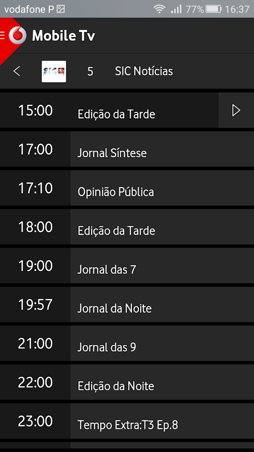 Vodafone Mobile TV- screenshot