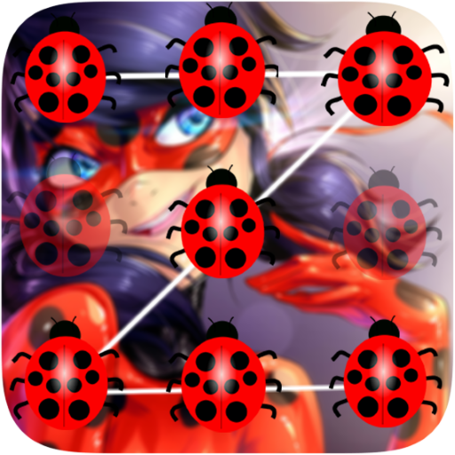 Ladybug Pattern Lock Screen