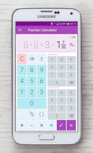 Fraction calculator: easy solve fractions problems 1.27 screenshots 4