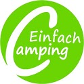 Simple camping with camping card icon