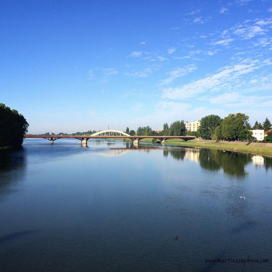 The main bridge and the right bank, Piešťany, Slovakia