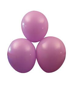 Lila ballonger, 25 st