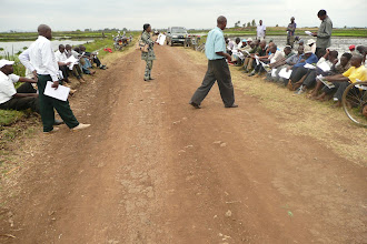 Photo: A field day training held August 6, 2010, was attended by about 60 farmers in Mwea. [Photo Courtesy of Bancy Mati]