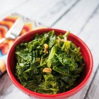 Pressure Cooker Kale with Garlic and Lemon.