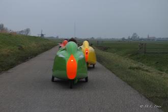 Photo: Door polders en langs molens en water.