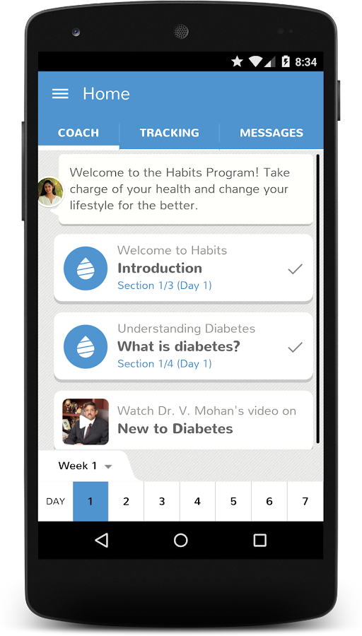Dr. Mohan's Diabetes App- screenshot