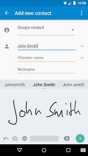 Google Рукописный ввод screenshot