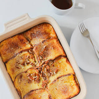 Caramel Brioche Baked French Toast.