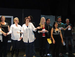 Photo: Graduate Candidates perform during the cabaret that raised money for a scholarship fund to be given to a senior who has been inspired by the arts.