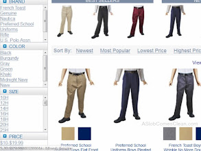 Photo: I could choose by flat or pleated front, or adjustable waist.