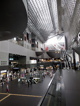 Photo: We arrive at the massive Kyoto Train Station.  One of the most impressive buildings I have been in.