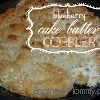 Blueberry Cake Batter Cobbler.
