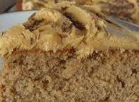 Applesauce Spice cake with Peanut Butter Frosting