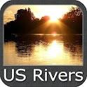 US Rivers gps map navigator icon