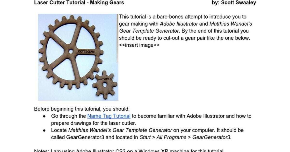 04834: Gear Making Tutorial - Google Docs