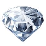 大粒のダイヤ