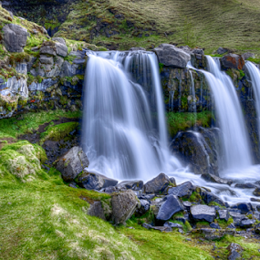 by Steve Rogers - Landscapes Waterscapes ( iceland, waterfalls, hdr, nature, cascade, trail, beautiful )
