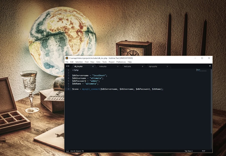 how to use php with mysql